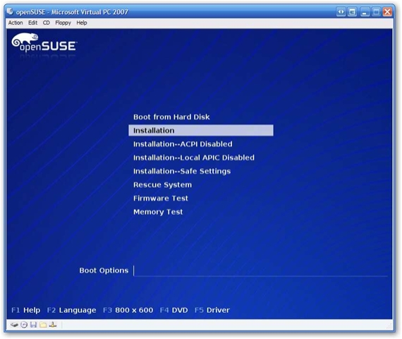 Installing openSUSE 10 2 on Virtual PC Step by Step | Arcane