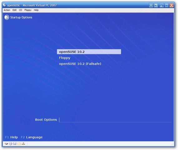 Installing openSUSE 10 2 on Virtual PC Step by Step   Arcane