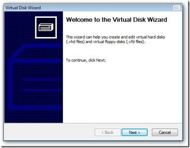 [Picture 1 - Welcome to Virtual Disk Wizard]