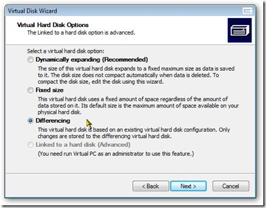 [Picture 5 - Hard Disk Options]