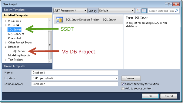 SQL Server Data Tools in Visual Studio 2012 | Arcane Code