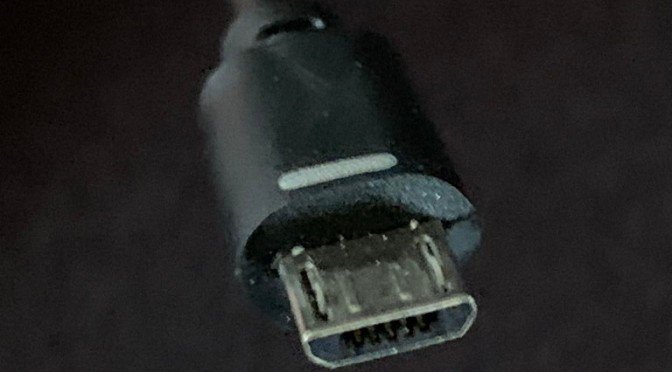 Micro-USB with Long Side Marked