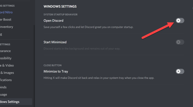Stop Discord from Automatically Running When Windows Starts