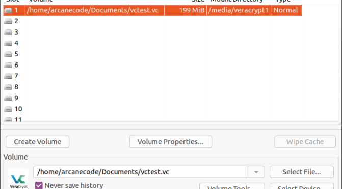 VeraCrypt On the Command Line for Ubuntu Linux