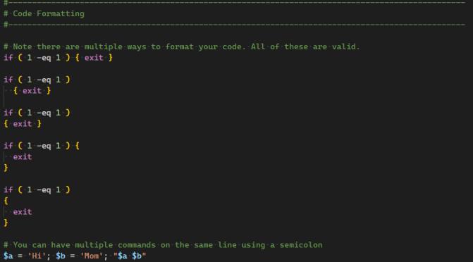 Fun With PowerShell Code Formatting
