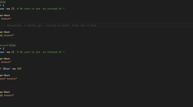 Fun With PowerShell Logic Branching