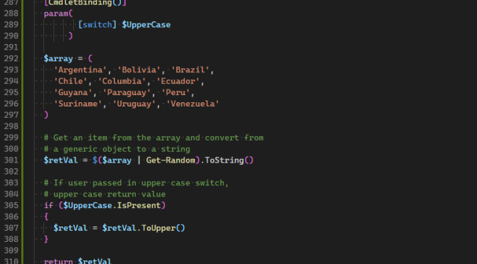 Fun With the PowerShell Switch Parameter