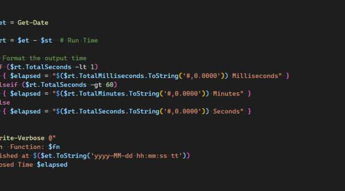 Fun With PowerShell Write-Verbose
