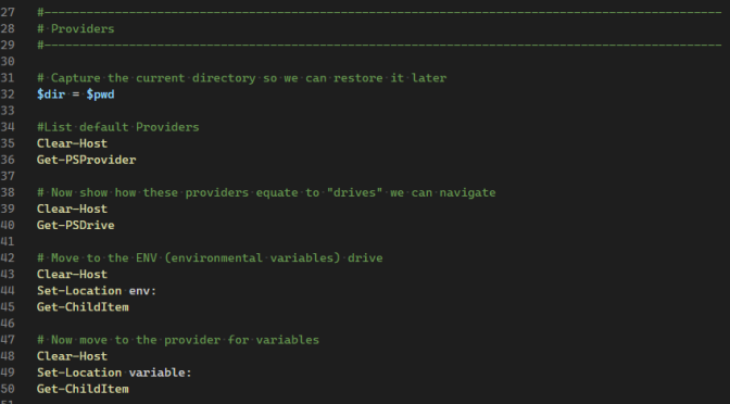 Fun With PowerShell Providers